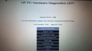 HP Diagnostics CSO Number