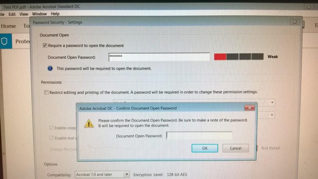 6 - Re-enter the document password